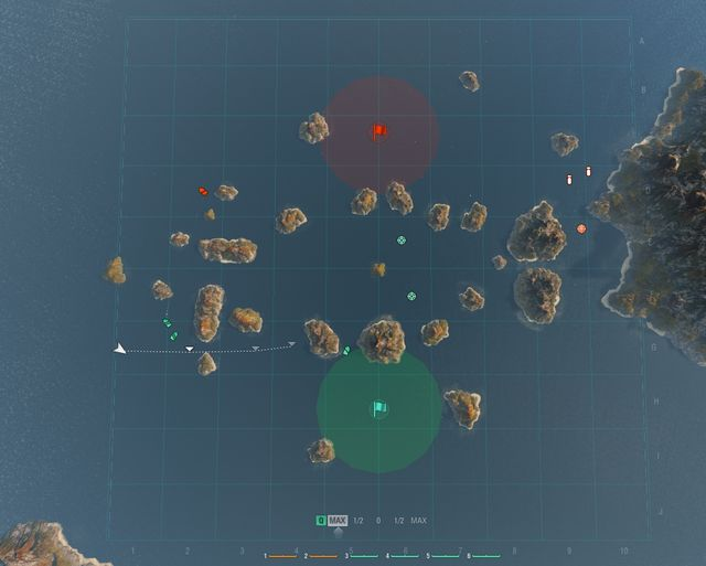After pressing the M key, a larger version of the minimap will appear - Battle - Game interface - World of Warships - Game Guide and Walkthrough