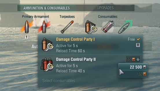 Use premium consumables only for tier V+ ships and the ones left for fun. - Consumables - Game mechanics - World of Warships - Game Guide and Walkthrough