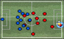 Situation almost similar to previous, but on the other side of the pitch - Nuances of the control - World Soccer Winning Eleven 9 - Game Guide and Walkthrough