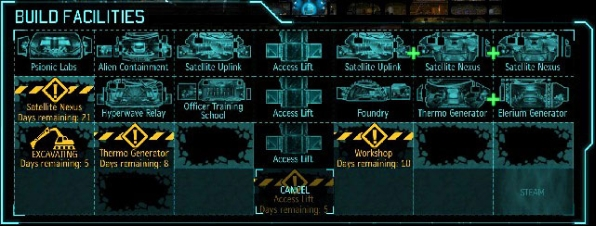 An extensive database of XCOM, some areas are still under construction. - Production and improvement of equipment - XCOM Base - XCOM: Enemy Unknown - Game Guide and Walkthrough