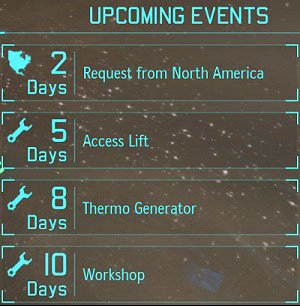List of upcoming events, we can easily control the XCOM project. - Mission Control - Introduction - XCOM Base - XCOM: Enemy Unknown - Game Guide and Walkthrough