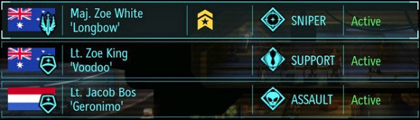 Major Zoe White has been promoted. - Strike force - Team and classes - XCOM: Enemy Unknown - Game Guide and Walkthrough