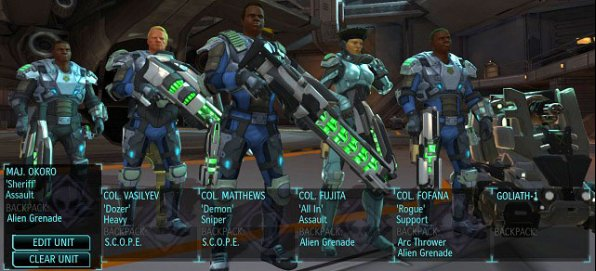Dream team just before heading out on a mission. - Strike force - Team and classes - XCOM: Enemy Unknown - Game Guide and Walkthrough