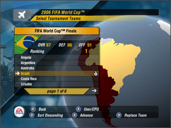 1 - Lets start - World Cup Mode - 2006 FIFA World Cup Germany - Game Guide and Walkthrough