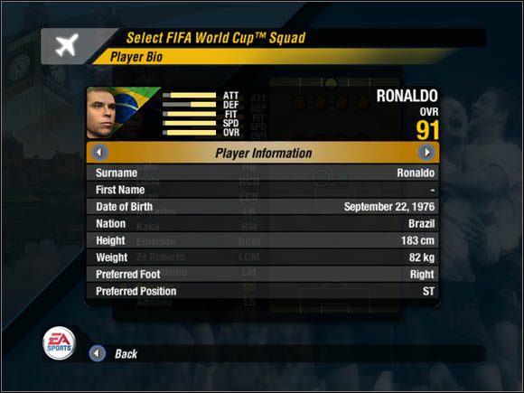 One more thing - you can change your players during the match (max - Players - World Cup Mode - 2006 FIFA World Cup Germany - Game Guide and Walkthrough