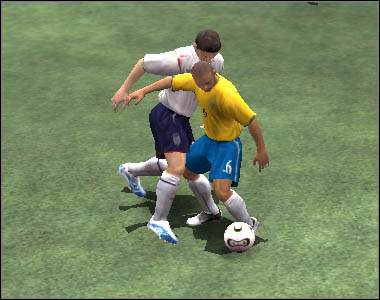 Pressing [D] will result in a conservative tackle - Defence and fouls - Movement - 2006 FIFA World Cup Germany - Game Guide and Walkthrough