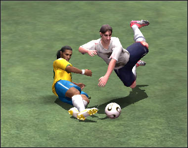 Fouls often end with a yellow or red cards, but remember that there is an advantage clause - Defence and fouls - Movement - 2006 FIFA World Cup Germany - Game Guide and Walkthrough