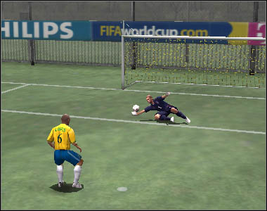 It is also possible to kick the ball over the goalkeeper - Shots - Movement - 2006 FIFA World Cup Germany - Game Guide and Walkthrough