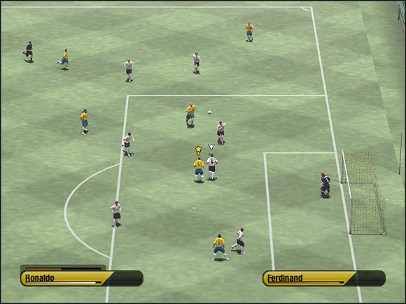If the cross is accurate and one of your player collects it, you'll have two opportunities: immediately press [D] to score a goal with player's head or wait a moment if you want to perform a classic shot on target using strikers' foot - Wing play & crosses - Tactical solutions - 2006 FIFA World Cup Germany - Game Guide and Walkthrough