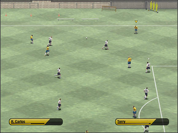 When you get next to the box, click (or double-click) [A] to perform the cross - Wing play & crosses - Tactical solutions - 2006 FIFA World Cup Germany - Game Guide and Walkthrough