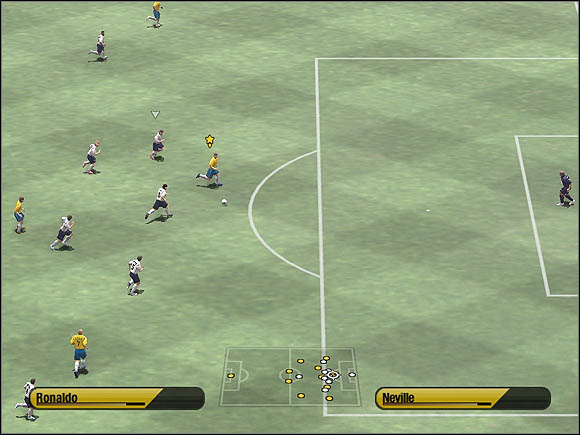 Now you control the forwarder - Through balls - Tactical solutions - 2006 FIFA World Cup Germany - Game Guide and Walkthrough