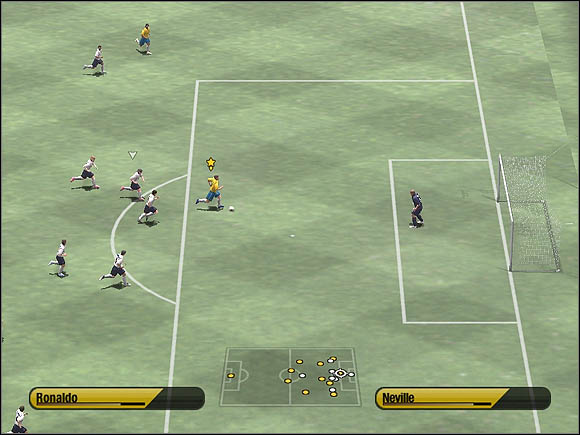 Now we've got chance to score a goal - Through balls - Tactical solutions - 2006 FIFA World Cup Germany - Game Guide and Walkthrough