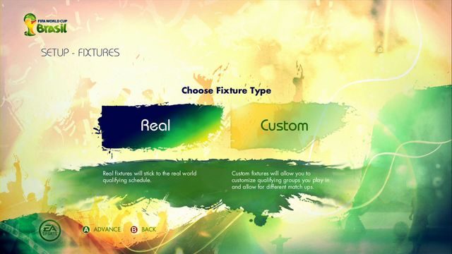 After that you move to the next screen where you can choose between two options of drawing groups - Road to the FIFA World Cup - Game Modes - 2014 FIFA World Cup Brazil - Game Guide and Walkthrough