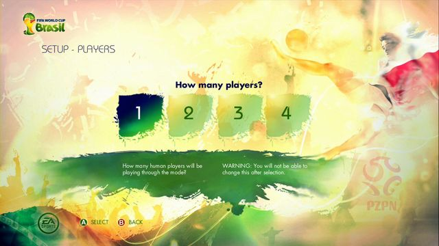 Game let play up to four players in this mode - Captain Your Country - Game Modes - 2014 FIFA World Cup Brazil - Game Guide and Walkthrough