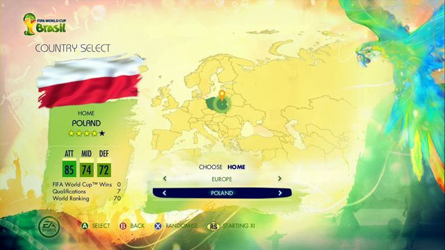 You begin this mode from choosing your nationality - Captain Your Country - Game Modes - 2014 FIFA World Cup Brazil - Game Guide and Walkthrough