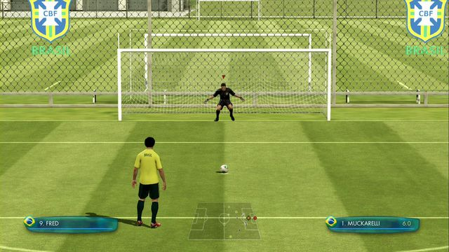 Its hard to tell if goalkeepers gestures have any impact onto the CPU players concentration. - Defense of the penalty kick - Game - 2014 FIFA World Cup Brazil - Game Guide and Walkthrough