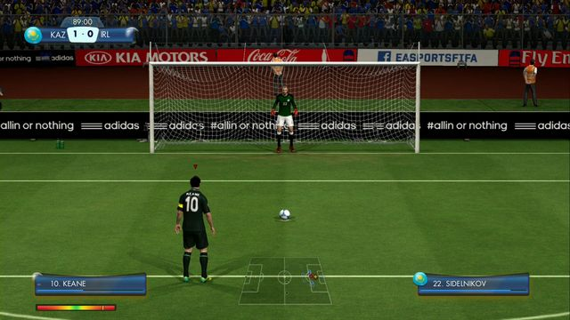 Scoring from this penalty will let you win the challenge! - Europe - Story of Qualifying - challenges - 2014 FIFA World Cup Brazil - Game Guide and Walkthrough