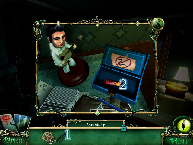 With your new item, you can open a box at the desk - Hotel - Main storyline - 9 Clues: The Secret of Serpent Creek - Game Guide and Walkthrough