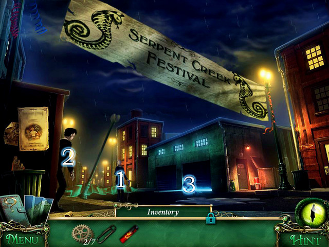 There you get to know a mayor, Alister Braminus [1] - City streets - Main storyline - 9 Clues: The Secret of Serpent Creek - Game Guide and Walkthrough