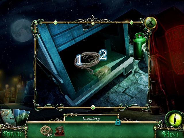 Open car using Car Keys of Helen and Joe - City streets - Main storyline - 9 Clues: The Secret of Serpent Creek - Game Guide and Walkthrough