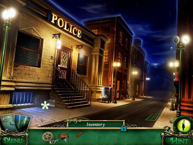 After a short cut scene, mayor rides to the Cliffs - City streets - Main storyline - 9 Clues: The Secret of Serpent Creek - Game Guide and Walkthrough