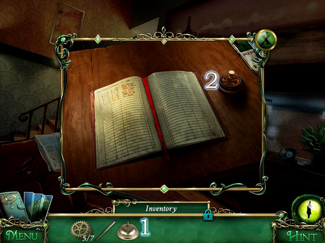 On sheriffs desk in Sheriff's Office you begin a scene with hidden object - Return to the hotel - Main storyline - 9 Clues: The Secret of Serpent Creek - Game Guide and Walkthrough