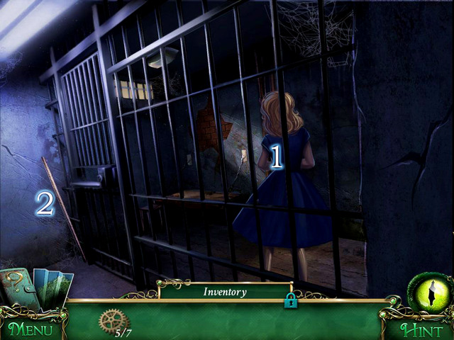 In the Jail you find imprisoned Helen [1] - Police precinct - Main storyline - 9 Clues: The Secret of Serpent Creek - Game Guide and Walkthrough