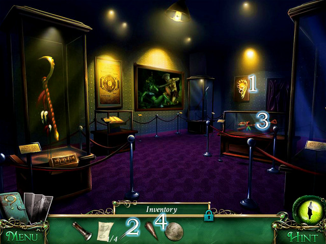 Approach the golden mask of snake [1] - Museum - Main storyline - 9 Clues: The Secret of Serpent Creek - Game Guide and Walkthrough