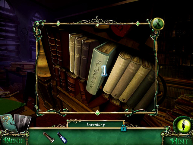 When you enter next room and finish a detective mode (Library), go left (Old books section) - Library - Main storyline - 9 Clues: The Secret of Serpent Creek - Game Guide and Walkthrough