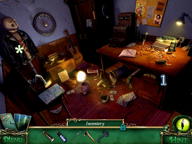 After a scene with hidden object, you get a Crowbar - Library - Main storyline - 9 Clues: The Secret of Serpent Creek - Game Guide and Walkthrough
