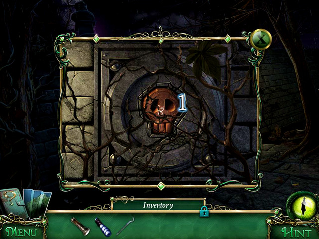 On the right youll see a Little skull [1], which you have to take - Cemetery - Main storyline - 9 Clues: The Secret of Serpent Creek - Game Guide and Walkthrough