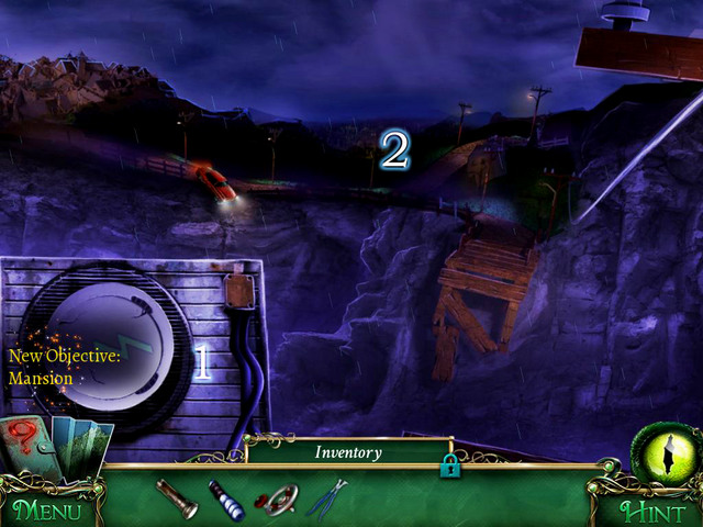 Place Transformer switch in the proper place [1] what turns off the power on the other side of cliff [2] - Prison - Main storyline - 9 Clues: The Secret of Serpent Creek - Game Guide and Walkthrough