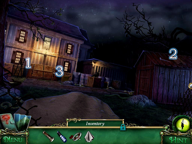 Cut the fence using Wire cutters - Mansion - Main storyline - 9 Clues: The Secret of Serpent Creek - Game Guide and Walkthrough