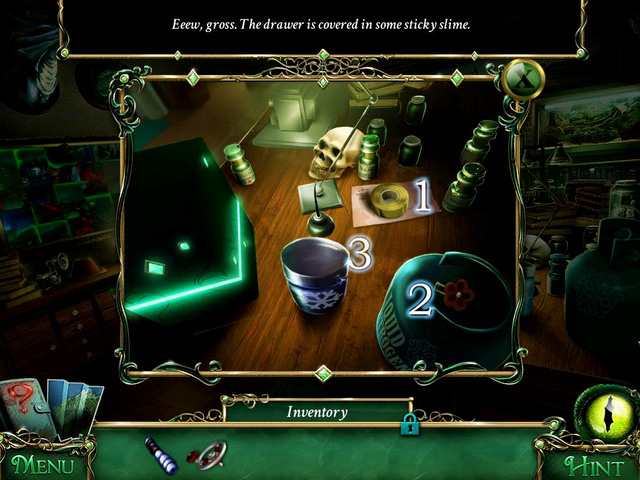 Approach the table - Mansion - Main storyline - 9 Clues: The Secret of Serpent Creek - Game Guide and Walkthrough