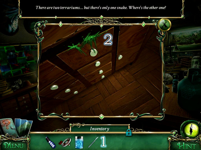 Having Scalpel, which you goy in a scene with hidden object, you can open a drawer on left [2] - Mansion - Main storyline - 9 Clues: The Secret of Serpent Creek - Game Guide and Walkthrough