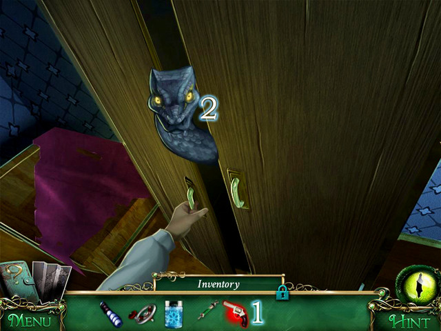 You find a wounded Owen on the corridor and he gives you Loaded revolver - Mansion - Main storyline - 9 Clues: The Secret of Serpent Creek - Game Guide and Walkthrough