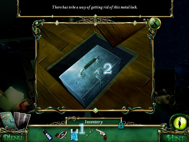 Using insides of container [1] freeze the lock of the casette [2] and then open - Mansion - Main storyline - 9 Clues: The Secret of Serpent Creek - Game Guide and Walkthrough