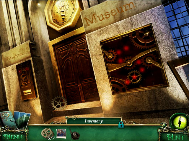Museum: in front of museum door, next to it - Collectibles - Collectibles and puzzles - 9 Clues: The Secret of Serpent Creek - Game Guide and Walkthrough