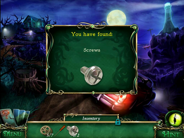 Cliffs: when you finish a scene with hidden object in the car - Collectibles - Collectibles and puzzles - 9 Clues: The Secret of Serpent Creek - Game Guide and Walkthrough
