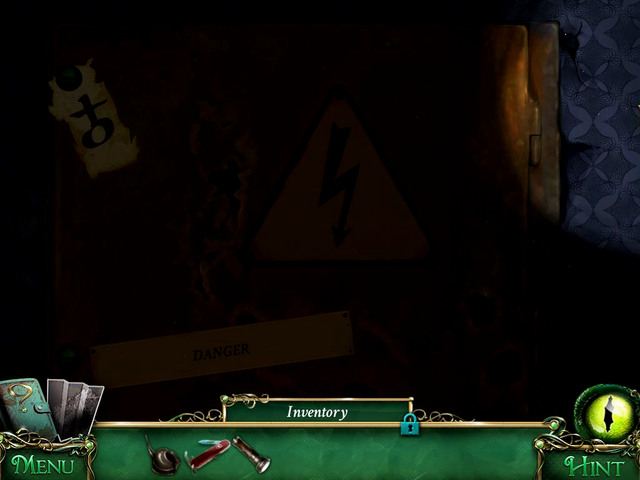 First floor: under the upper screw, a fuse box - Collectibles - Collectibles and puzzles - 9 Clues: The Secret of Serpent Creek - Game Guide and Walkthrough