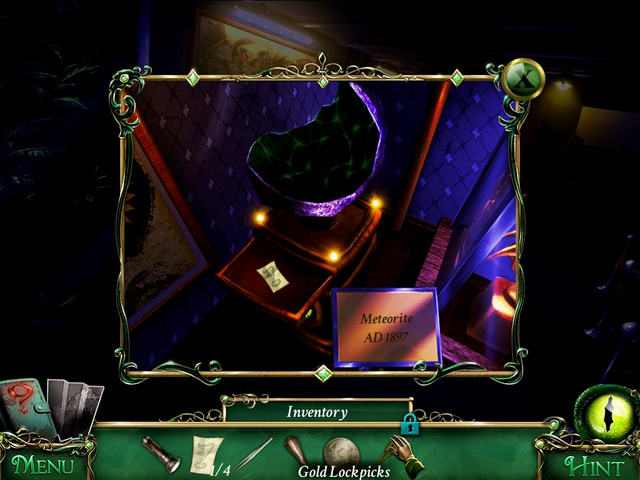 First floor: in the drawer, on the cupboard on which you find a part of meteor - Collectibles - Collectibles and puzzles - 9 Clues: The Secret of Serpent Creek - Game Guide and Walkthrough