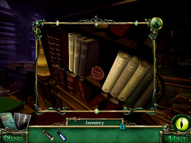 Old books section: on the bookshelf, behind a Necronomicon - Collectibles - Collectibles and puzzles - 9 Clues: The Secret of Serpent Creek - Game Guide and Walkthrough