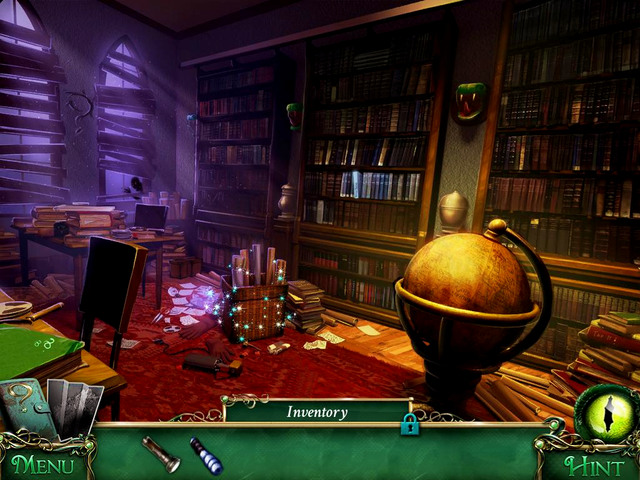 Old books section: between windows, on the wall - Clues - Collectibles and puzzles - 9 Clues: The Secret of Serpent Creek - Game Guide and Walkthrough