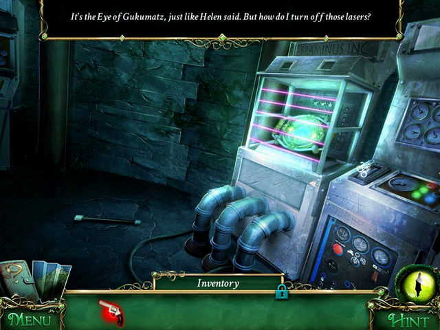 Lighthouse basement: on the machine on right, over the lever - Clues - Collectibles and puzzles - 9 Clues: The Secret of Serpent Creek - Game Guide and Walkthrough