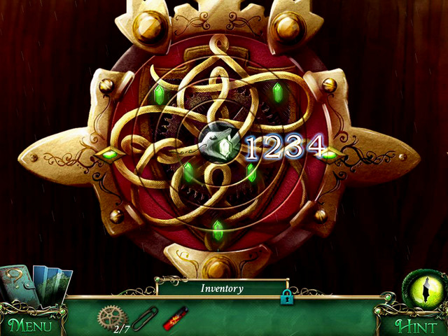 To solve this riddle, you have move rings [1-4] to make a pattern shown on the screen above - Puzzles - Collectibles and puzzles - 9 Clues: The Secret of Serpent Creek - Game Guide and Walkthrough