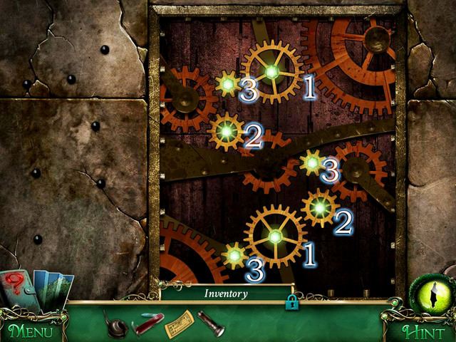 To enter the museum, you have to place gears in the proper order - Puzzles - Collectibles and puzzles - 9 Clues: The Secret of Serpent Creek - Game Guide and Walkthrough
