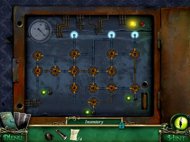 To retrieve a light, you have to turn brown joints to make them as on the screen above - Puzzles - Collectibles and puzzles - 9 Clues: The Secret of Serpent Creek - Game Guide and Walkthrough