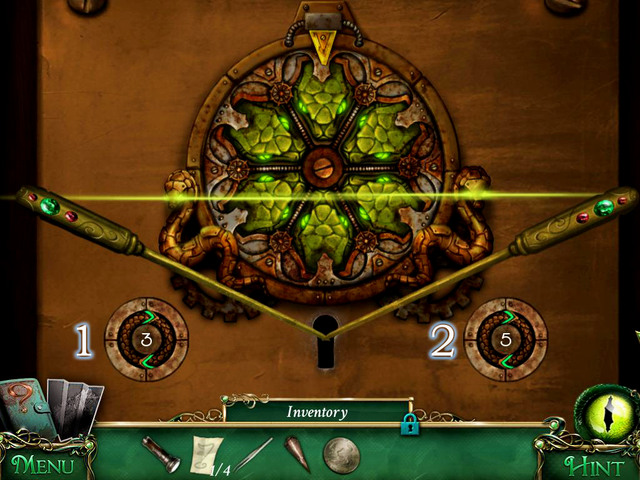 Use Gold Lockpicks on the door to begin the puzzle - Puzzles - Collectibles and puzzles - 9 Clues: The Secret of Serpent Creek - Game Guide and Walkthrough