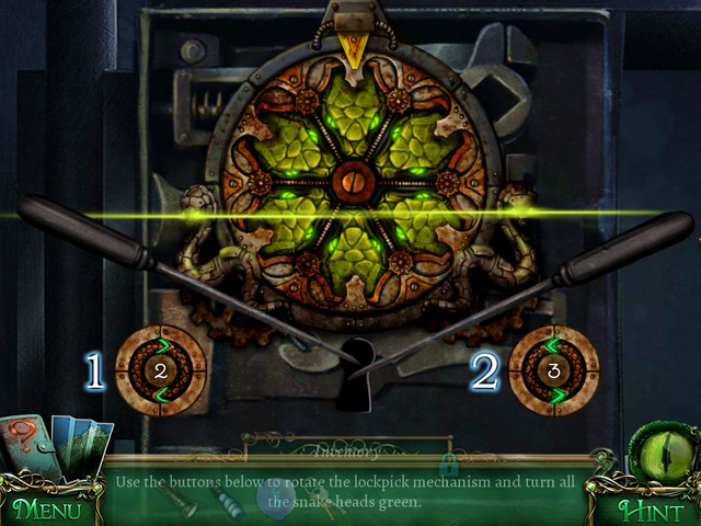 This riddle you solve using two buttons: left [1] and right [2] - Puzzles - Collectibles and puzzles - 9 Clues: The Secret of Serpent Creek - Game Guide and Walkthrough