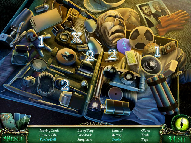 Crucial item [X] - Letter H - Hidden-object scenes - Collectibles and puzzles - 9 Clues: The Secret of Serpent Creek - Game Guide and Walkthrough